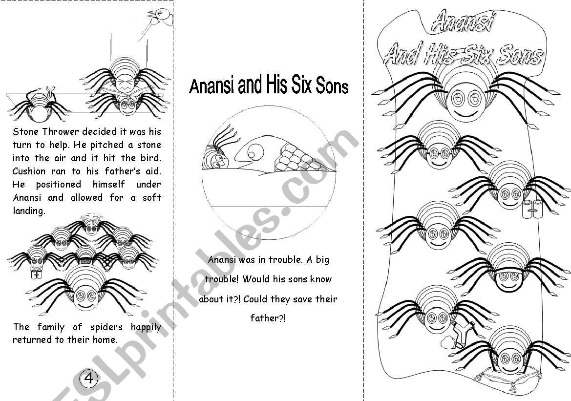 This is an image of Printable Anansi Stories pertaining to book cover
